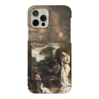 ギュスターヴ・クールベ(画家のアトリエ)のグッズ Smartphone cases