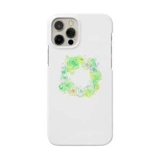 葉車-ラナンキュラスのリース- Smartphone cases