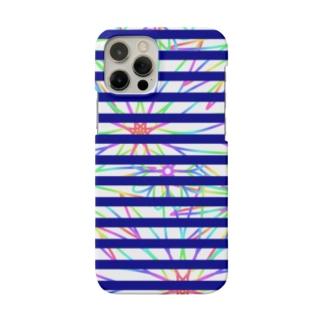 FLOWER×ボーダー Smartphone cases
