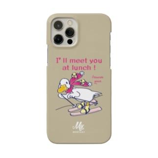 あひるのおひるさんのスキーC*ブラウン Smartphone Case