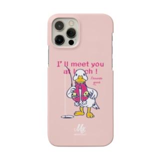 CT76あひるのおひるさんのサカナ釣り*ピンク Smartphone cases