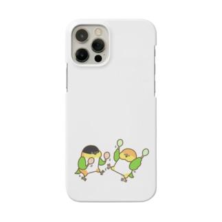 踊るシロハラさんズグロシロハラさん Smartphone cases