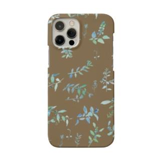 春を待つ brown Smartphone cases
