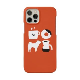 柴犬とコーヒータイム Smartphone cases