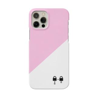南京錠スマホケース(ピンク) Smartphone cases