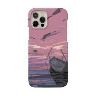 ベトナムデザインのVIETSTAR★の黄昏の湖 ベトナムにて Smartphone cases