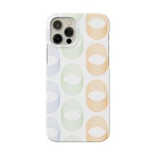 幾何学まるまる Smartphone cases