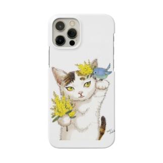 ミモザ小鳥びわ Smartphone cases