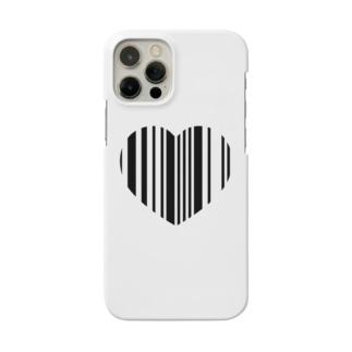 ハートバーコードスマホケース Smartphone cases