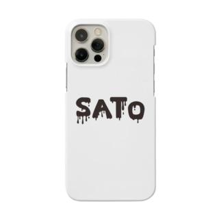SATO vo.1 BLACK FONT  Smartphone cases