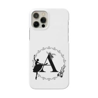 バレエシルエット◆A-2/モノクロ◆ Smartphone cases
