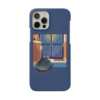 玄関待機サバトラネコ Smartphone cases