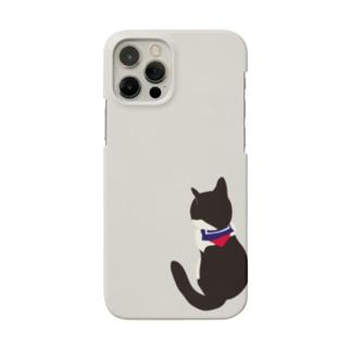 猫とセーラー服(右端) Smartphone cases