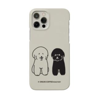 松福スマホケース ベージュ Smartphone cases