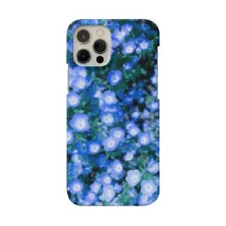 さくらいろのうさぎのnemophila Smartphone cases