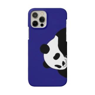 ひょっこりパンダのスマホケースBlue Smartphone Case