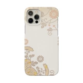 秋の花柄 Smartphone Case