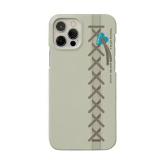 ブルーハート・チャームとレースアップ Smartphone Case