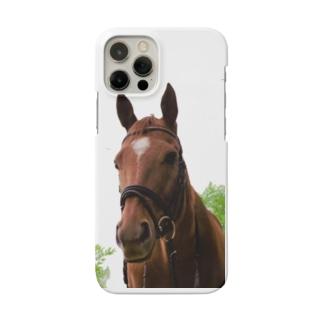 牧場 乗馬 馬術の馬 Smartphone cases