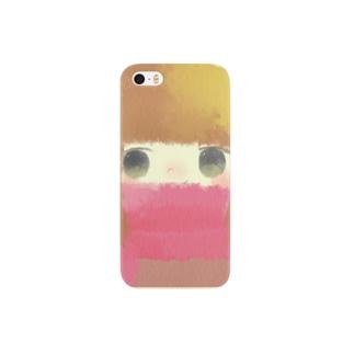 マフラーの女の子 Smartphone cases