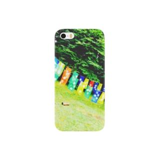 涼しげ緑にて Smartphone cases