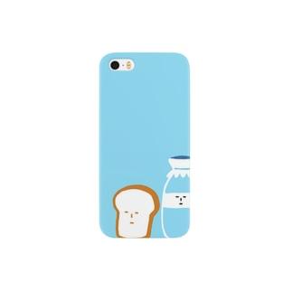 もこもこのぱんとぎゅうにゅう Smartphone cases