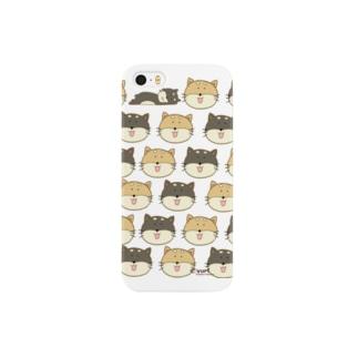 しばいぬくん総柄ケース(iPhone5、7、7plus用) Smartphone cases