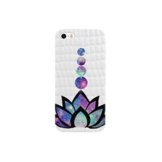 宇宙ロータス△ホワイトクロコダイル Smartphone cases