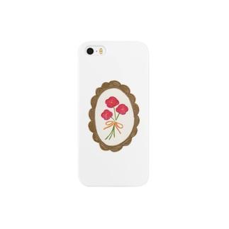 薔薇色のお花 Smartphone cases