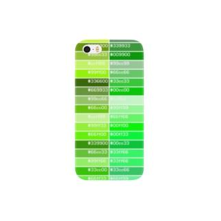 カラーパレット緑 Smartphone cases