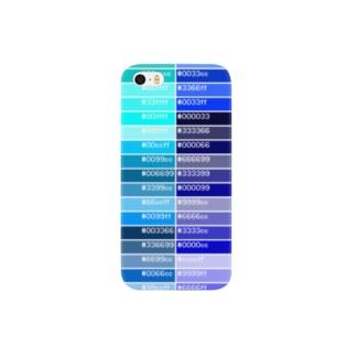 カラーパレット青 Smartphone cases