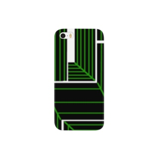 black×green Smartphone cases