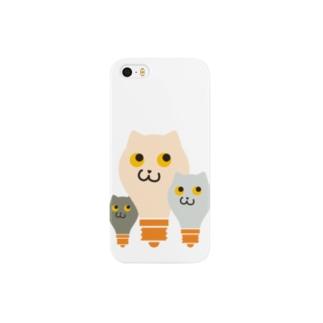 ねこふくろう電球 iPhone5ケース Smartphone cases