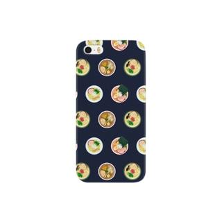 ラーメン 黒 Smartphone cases