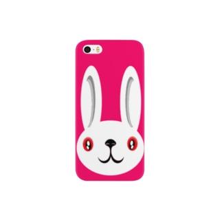 ウサギ white スマートフォンケース