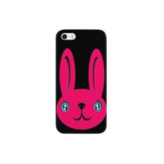 ウサギ pink スマートフォンケース