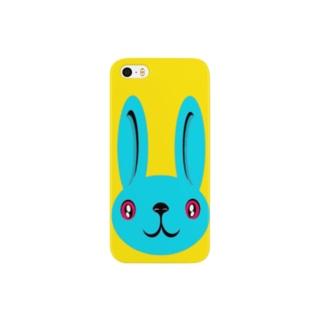 ウサギ blue Smartphone cases