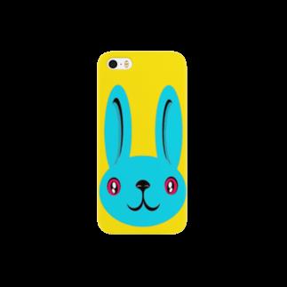 ameyoのウサギ blue Smartphone cases