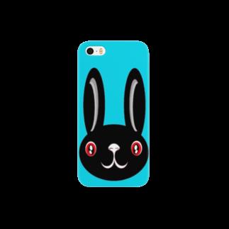 ameyoのウサギ black Smartphone cases