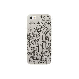 イニシャルA モノクロ Smartphone cases