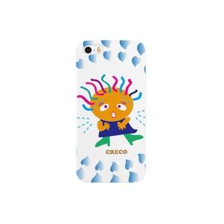 クレコちゃんがどっきり冷汗 Smartphone cases