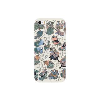 新板両面当狂言【浮世絵・狂言・役者絵・おもちゃ絵】 Smartphone cases