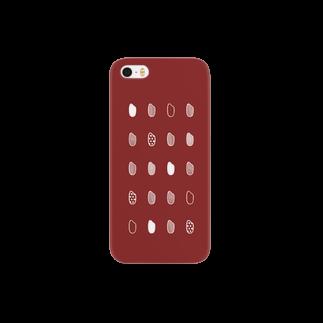 nchooooo!のお米・赤 Smartphone cases