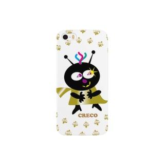ちょい悪クレコちゃんのニタッ笑い Smartphone cases