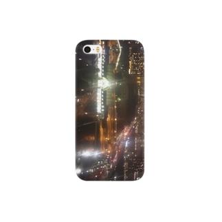 都会の夜景 スマートフォンケース