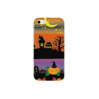 クレコちゃんのハロウィンナイトでお化けがフィーバー Smartphone cases