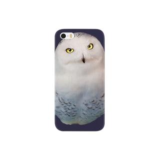 シロフクロウ Smartphone cases