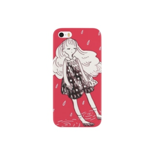 雨と女の子 Smartphone cases
