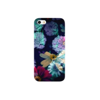 midnight flowers Smartphone cases