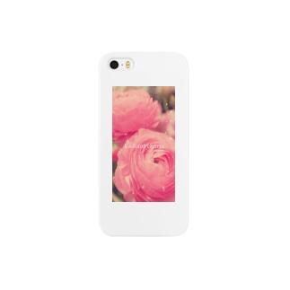 ピンクのお花 Smartphone cases